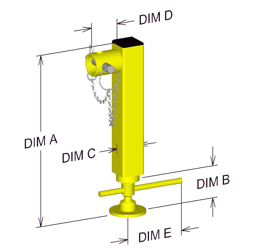 Adjustable Trailer Jack Diagram